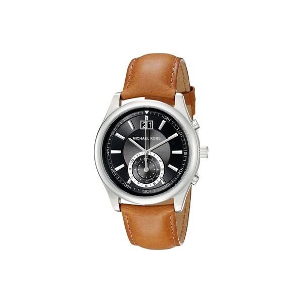 Michael Kors Men's MK8416 Aiden Round Brown Leather Strap Watch