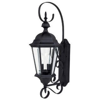 Capital Lighting Carraige House Collection 2-light Black Outdoor Wall Lantern