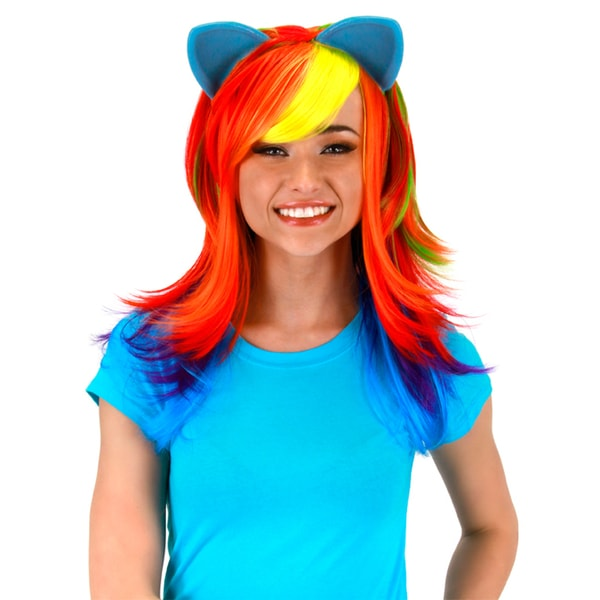 Adult My Little Pony Rainbow Dash Wig with Ears