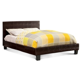 Furniture of America Huntress III Brown Crocodile Leatherette Platform Bed