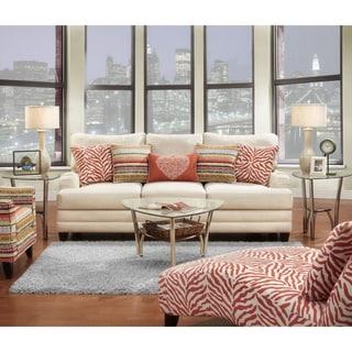 Furniture of America Kalea Contemporary Ivory Sofa