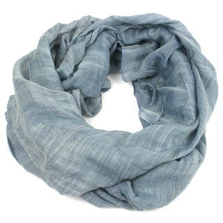 'Lucille' Infinity Scarf in Slate Blue - The Faire Collection (Vietnam)