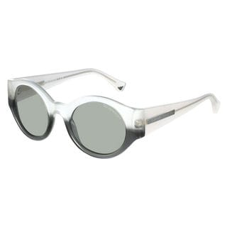 Emporio Armani Men's EA4044 Plastic Round Sunglasses
