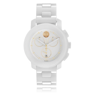 Movado Women's 'Bold' 3600187 Ceramic Link Watch