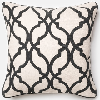 Ledbury Ivory/ Charcoal Moroccan Down Feather or Polyester Filled 22-inch Throw Pillow or Pillow Cover