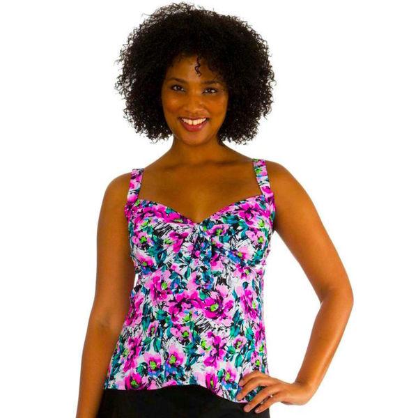 Mazu Swim Plus Size Underwire Maude Floral Tankini Top