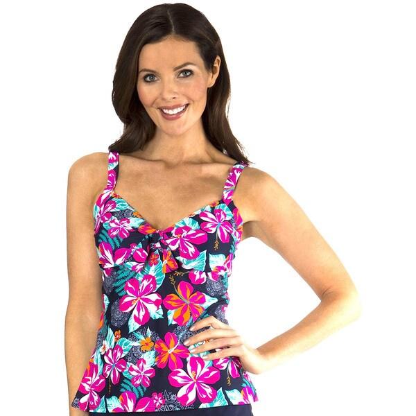 Mazu Swim Fiji Floral Underwire Tie Front Tankini Top