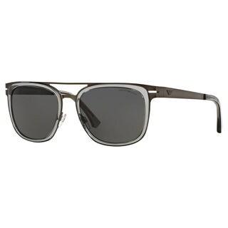Emporio Armani Men's EA2030 Metal Square Sunglasses