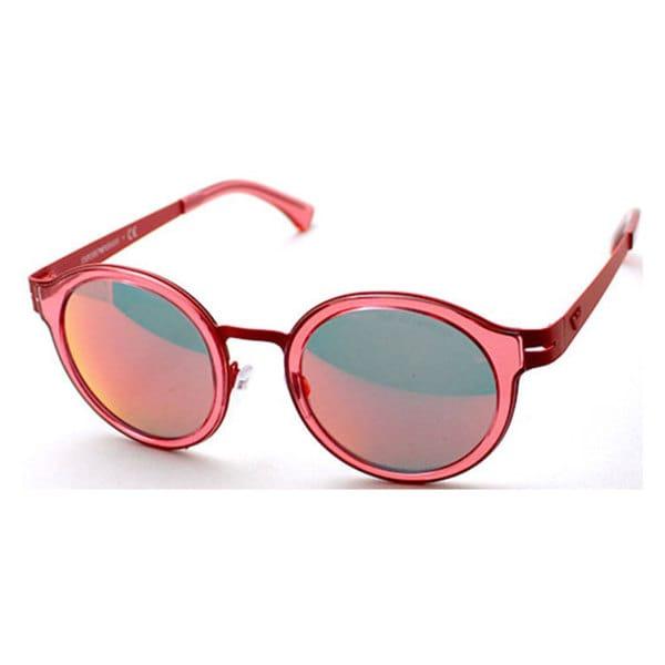 Emporio Armani Men's EA2029 Metal Round Sunglasses