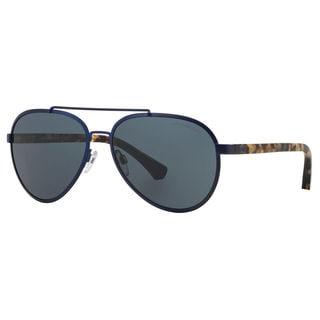 Emporio Armani Men's EA2024 Metal Pilot Sunglasses