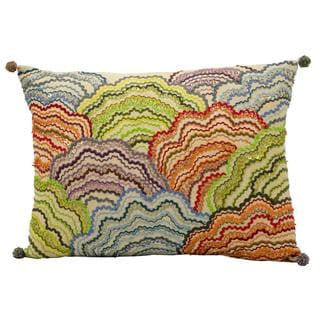 "Mina Victory by Nourison Fantasia Multicolor Pillow (12"" x 17"")"