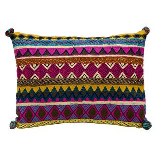 "Mina Victory by Nourison Fantasia Multicolor Pillow (13"" x 17"")"