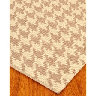 Hand Woven William Dhurrie Wool 8' x 10' Rug