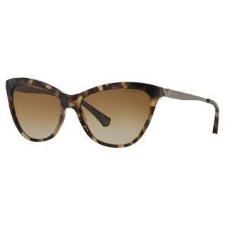 Emporio Armani Women's EA4030 Plastic Cat Eye Polarized Sunglasses