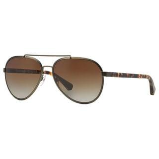 Emporio Armani Men's EA2024 Metal Pilot Polarized Sunglasses