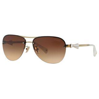 Coach Women's HC7031 L02 Britany 911813 Metal Pilot Sunglasses