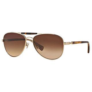 Coach Women's HC7041 L078 Alton 917613 Metal Pilot Sunglasses