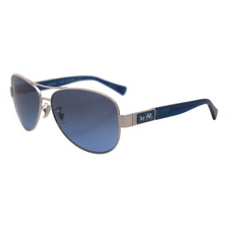 Coach Women's HC7047 L103 Christina 907817 Metal Pilot Sunglasses