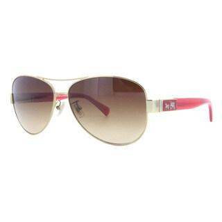 Coach Women's HC7047 L103 Christina 920713 Metal Pilot Sunglasses
