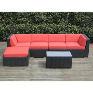 6 Piece All Weather Rattan Wicker Outdoor Patio Furniture Set - Color Variation