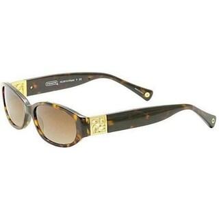Coach Women's HC8012 Hope 500113 Plastic Oval Sunglasses