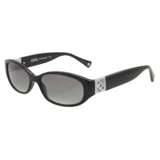 Coach Women's HC8012 Hope 500211 Plastic Oval Sunglasses