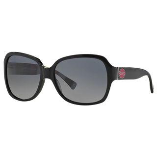 Coach Women's HC8043 L037 Bridget 5211T3 Plastic Square Polarized Sunglasses