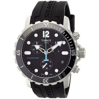 Tissot Men's T0664171705700 'Seastar' Chronograph Black Rubber Watch