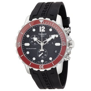 Tissot Men's T0664171705701 'T-Sport Seastar 1000' Chronograph Black Rubber Watch