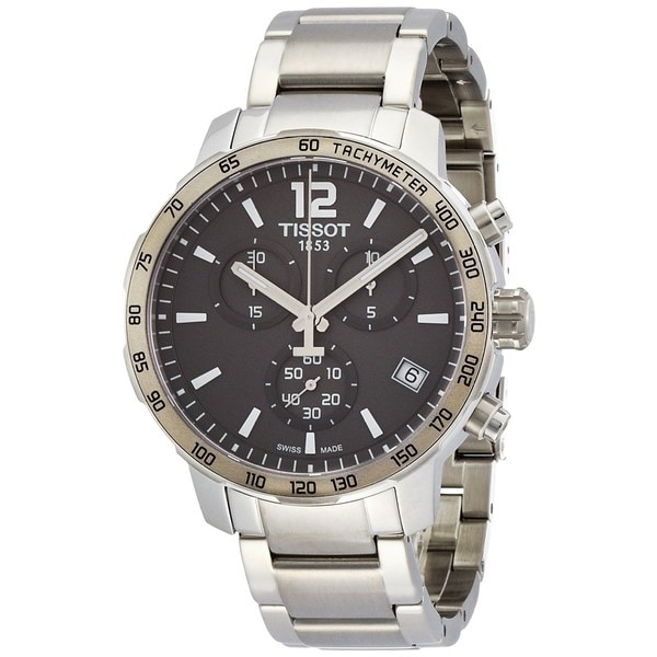 Tissot Men's T0954171106700 'Quickster' Chronograph Stainless Steel Watch 15758483
