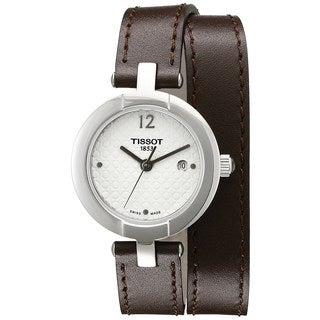 Tissot Women's T0842101601703 'T-Trend Pinky' Brown Leather Watch