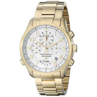 Bulova Men's 97B139 Chronograph Gold-Tone Stainless Steel Watch