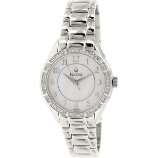Bulova Women's 96L182 Crystal Stainless Steel Watch