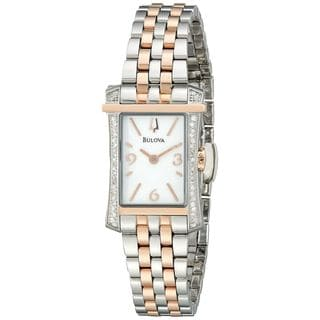 Bulova Women's 98R186 Diamond Two-Tone Stainless Steel Watch