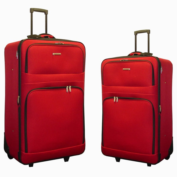 Hercules Alexa 2-piece Expandable Large Checked Luggage Set