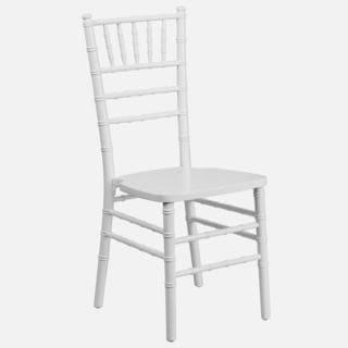Paradise Wood Chiavari Ball Room White Chairs