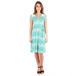 DownEast Basics Women's Floral Printed Dress