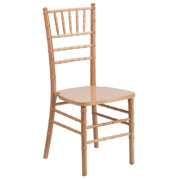 Paradise Wood Chiavari Ball Room Natural Chairs