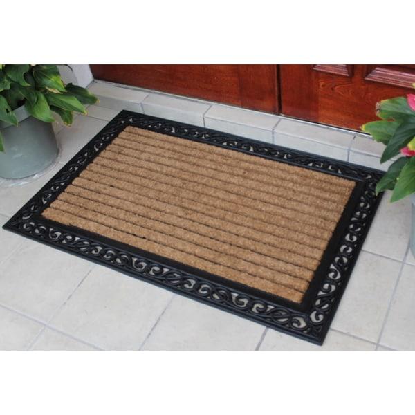 door mat 30x48 molded large double rubber and coir door mat 30x48 this