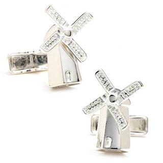 Sterling Windmill Cufflinks