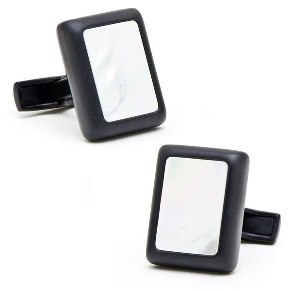 Matte Black and Mother of Pearl JFK Presidential Cufflinks