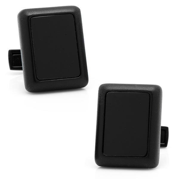 Matte Black and Onyx JFK Presidential Cufflinks