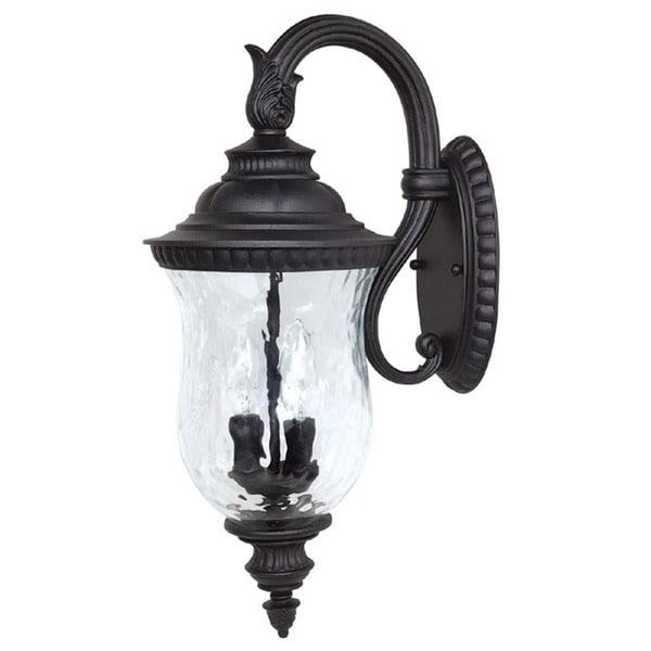 Capital Lighting Ashford Collection 2-light Black Outdoor Wall Lantern 15758861