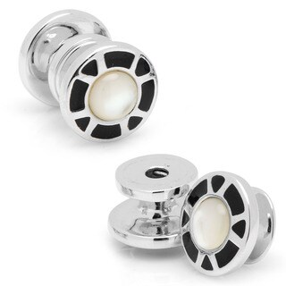 Sterling Vintage Snap Mosaic Cufflinks