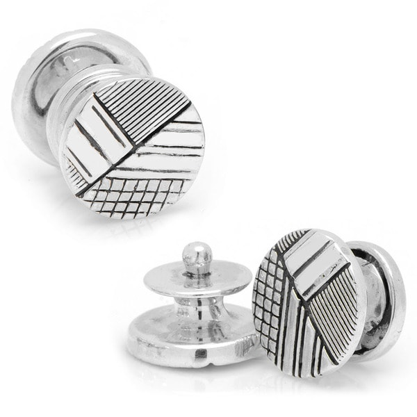 Sterling Vintage Snap Quadrant Cufflinks