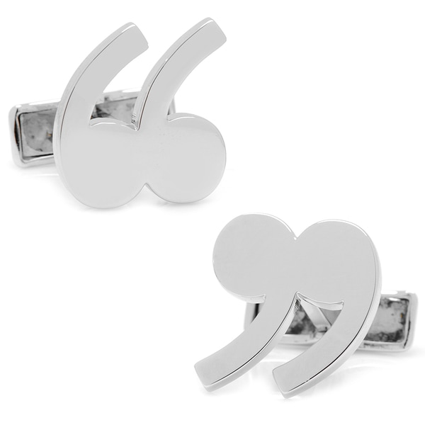 Sterling Quotation Mark Cufflinks
