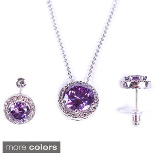 "Jimmy Crystal ""Spotlight"" Earring and Necklace Set"