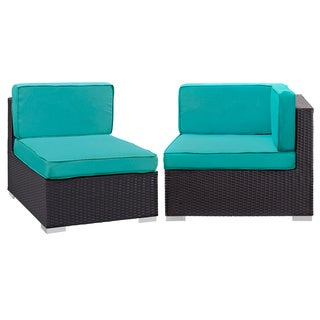 Gather Corner and Middle Outdoor Patio Sectional Set