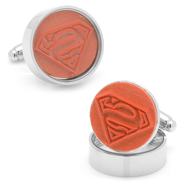 Superman Rubber Stamp Cufflinks