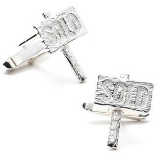 Sterling Silver Realtor Cufflinks